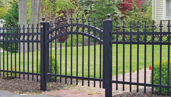 The look of wrought iron can really add lots of value to a property and is aesthetically pleasing as well! Ornamental fences are made of aluminum and steel and provide amazing security to any area.