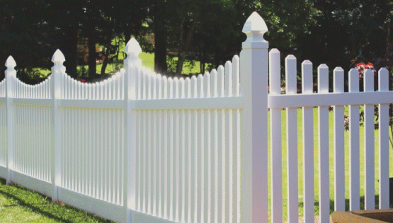 Vinyl fences are great because they provide security and privacy combined with very little maintenance. Vinyl is very durable and can last a very long time on a property. Vinyl also comes in many different colors and styles.
